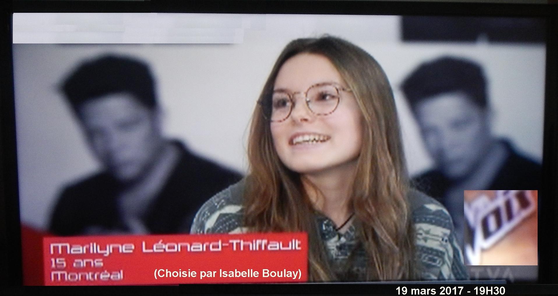 Marilyne-XI Léonard-Thiffault à La Voix